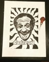 Sid James. Carry On. Hand Made. Original A3. linocut print. Limited and Signed. Art.