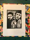 Happy Mondays. Shaun & Bez. Hand Made. Original A4 linocut print. Limited and Signed. Art.