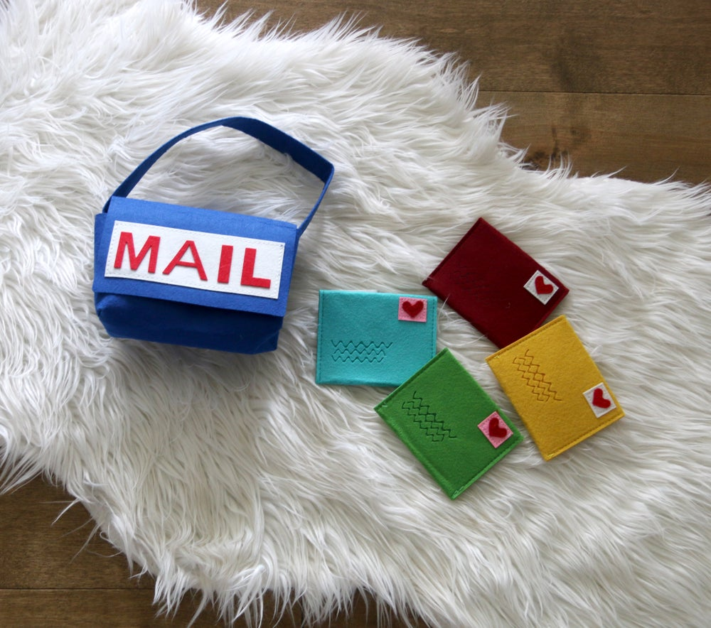 Image of Fun Felt Mail Letter Postal Set, Pretend Play Toys