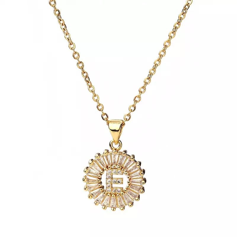 Image of Small Gold Initial Necklace