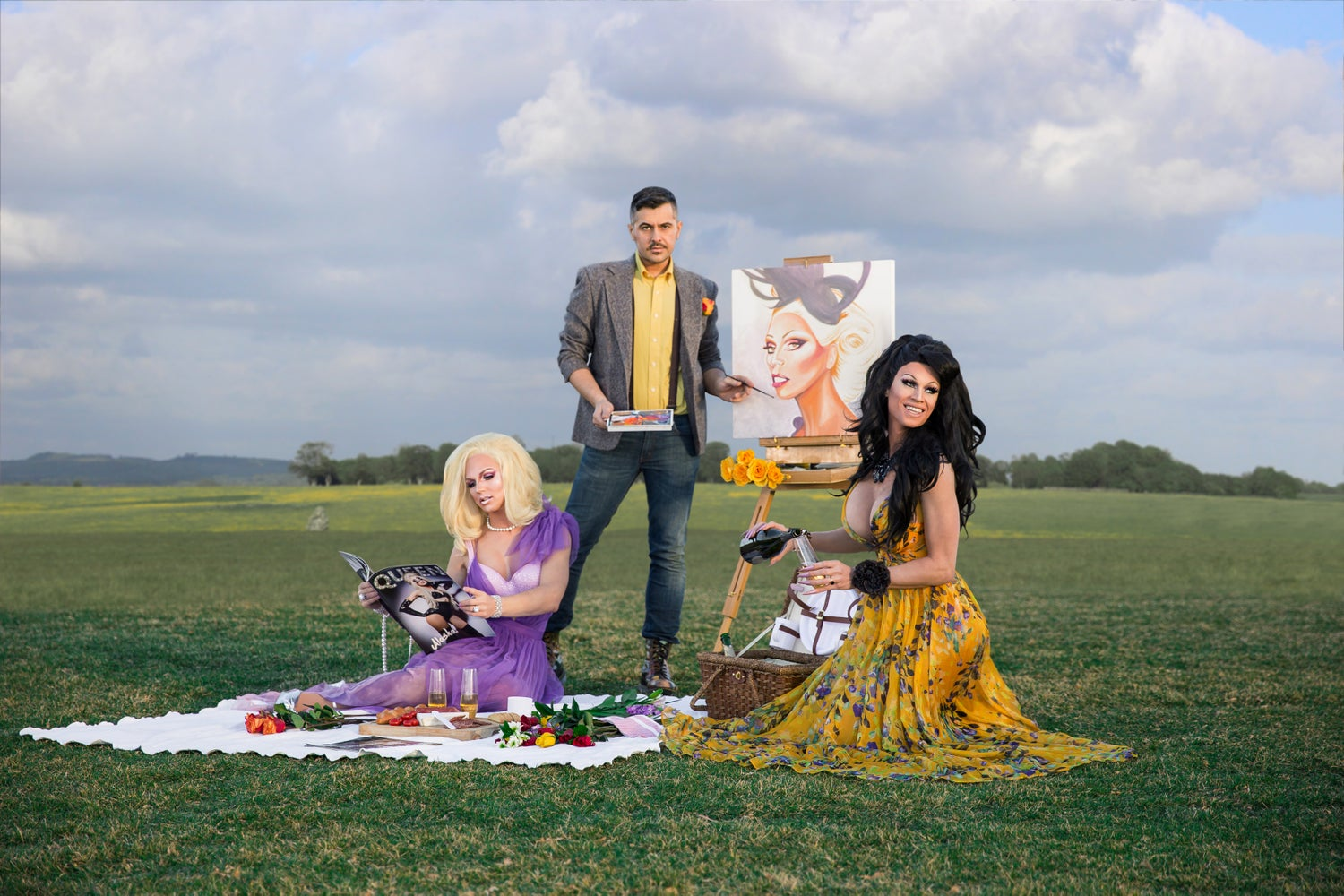 Image of Throuple X Arturo Garza: Family Picnic