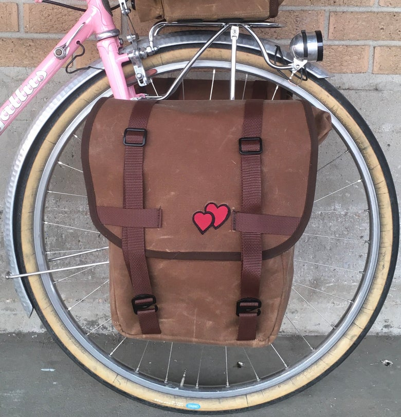 Image of RuthworksSF Wax Canvas Front Pannier Set
