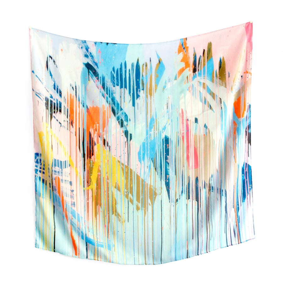 Image of Ocean Haze Silk Scarf