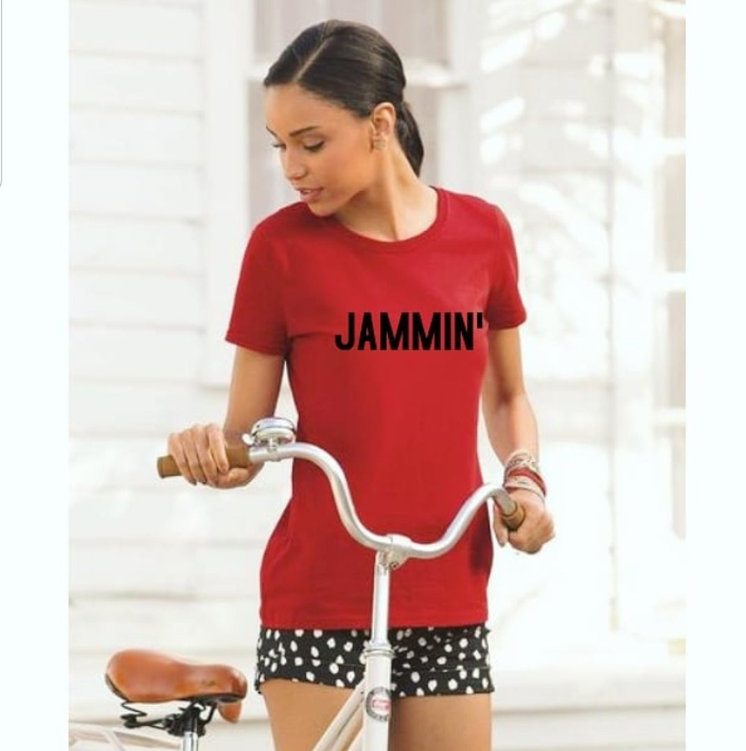 Image of JAMMIN' Fruit of Loom Cotton Women's T-shirt