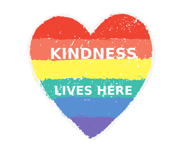 Image of KINDNESS LIVES HERE SUPPORT STICKER
