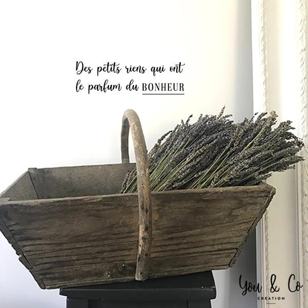 """Image of Sticker """"Des petits riens qui ont le parfum du BONHEUR"""""""