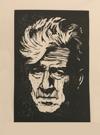 David Lynch. Negativity is the Enemy of Creativity. Twin Peaks. Hand Made. Original A4 linocut print