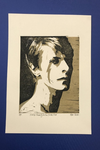 David Bowie. Always Crashing in the Same Car. Hand Made. Original A4 linocut print. Limited and Sign