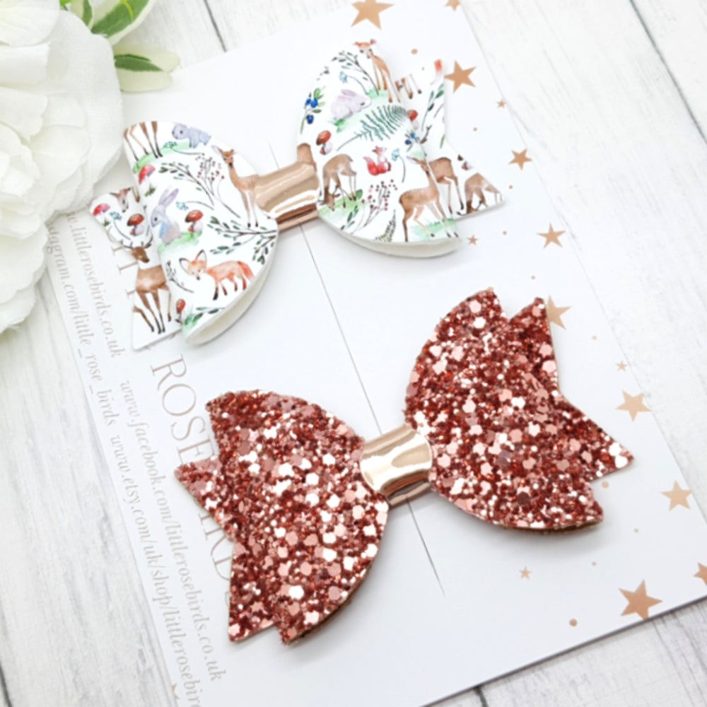 Image of Woodland Deer Set - Choice of Headband or Clips