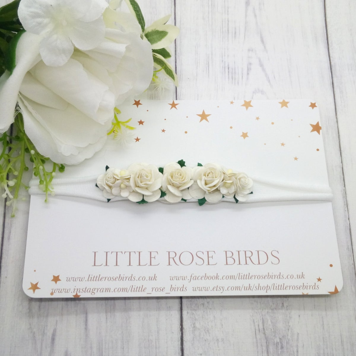 Image of White Occasion Flower Headband