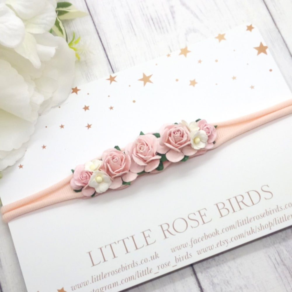 Image of Blush Pink Occasion Flower Headband