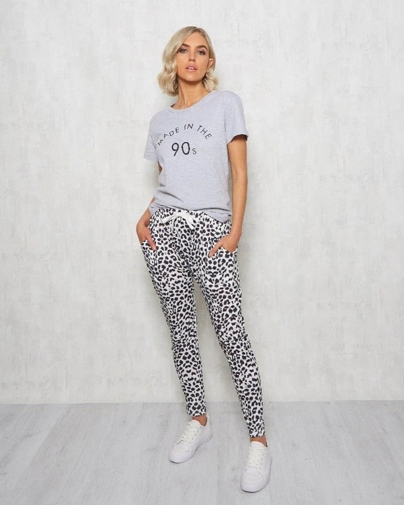 Image of Alannah Leopard Jogger slouch pant.
