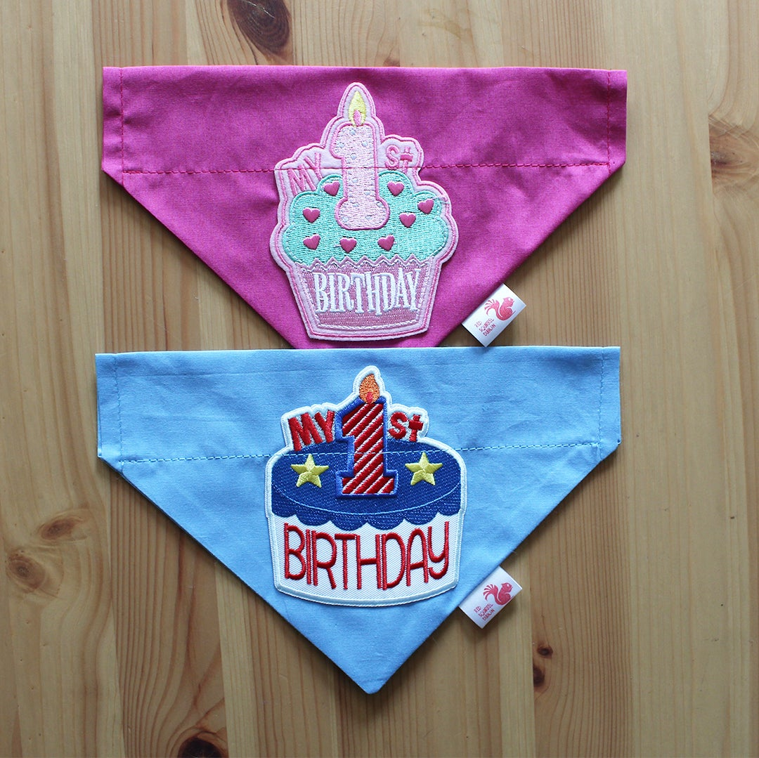 Image of 1st Birthday dog bandana