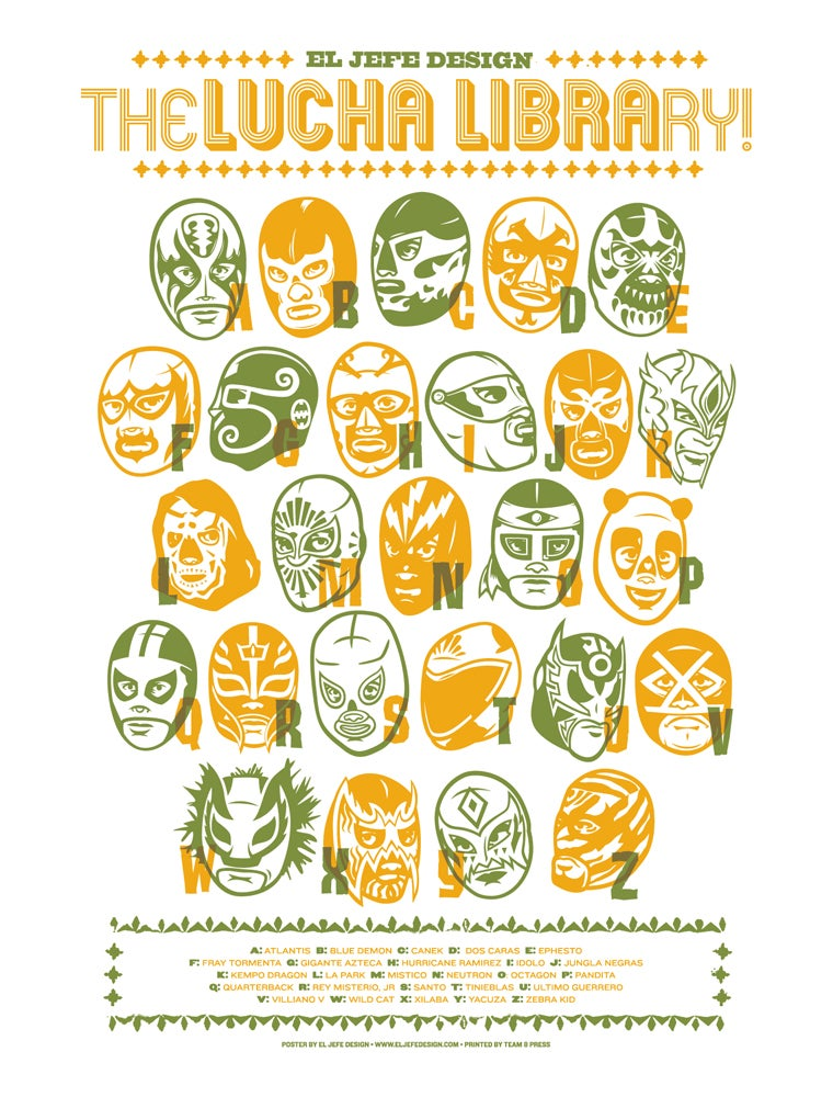 Image of Lucha Library - Masks - Two Options