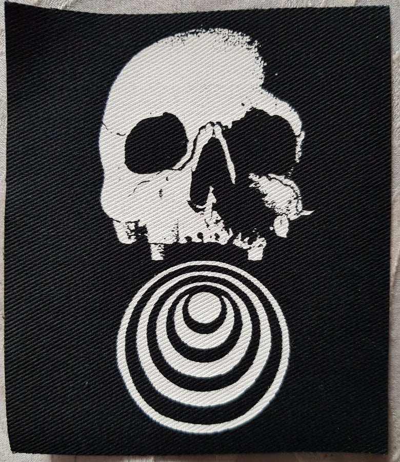 Image of Death Spiral..limited edition screen printed patch