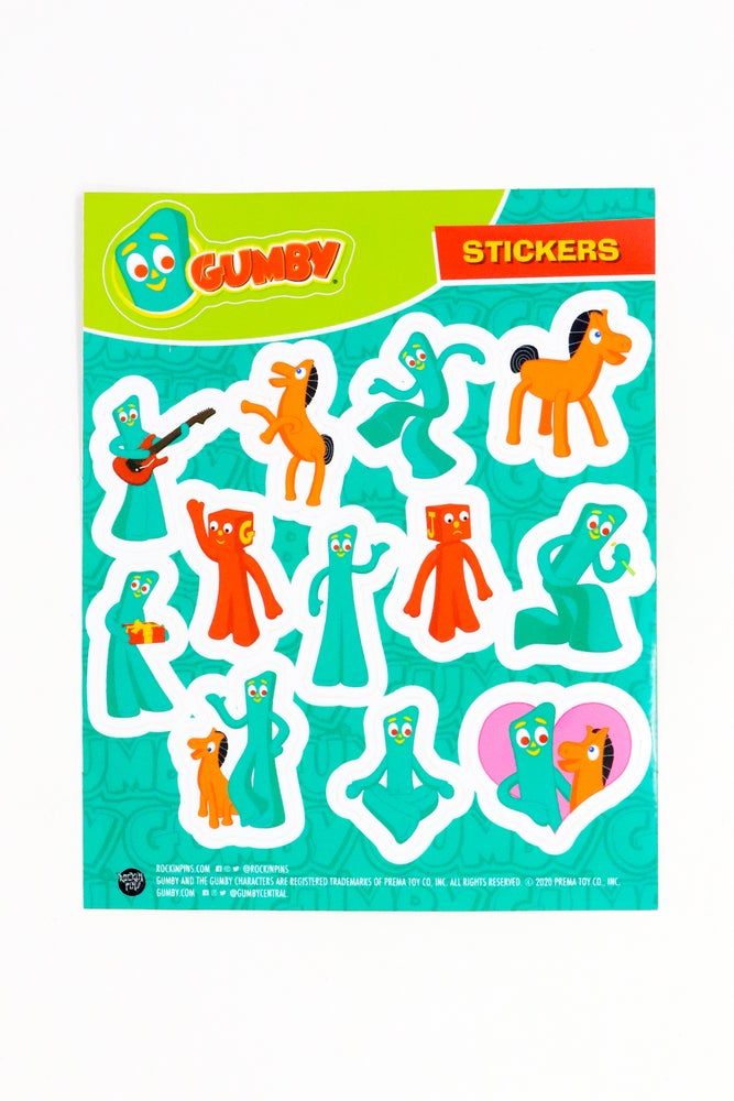 Image of Gumby - Sticker Sheet 01