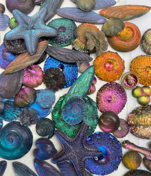 Glowing Resin Cabochon Pairs~ Approx. 20 mm