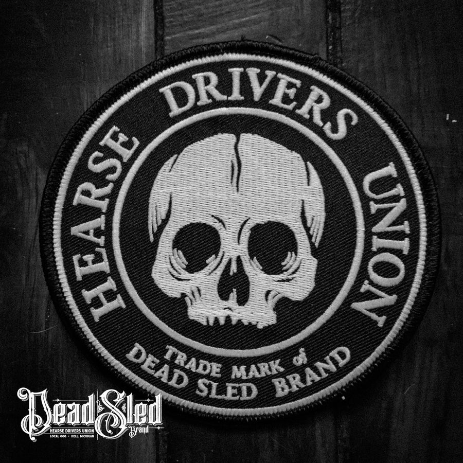 Image of Hearse Drivers Union 5-inch Glow-In-The-Dark Patch