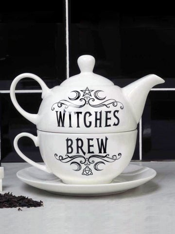 Image of ALCHEMY GOTHIC Witches Brew Hex: Tea Set for One
