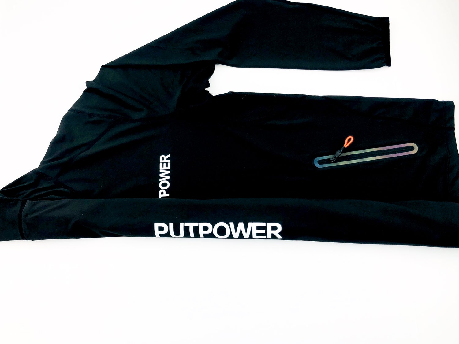 Image of PUTPOWER FULL ZIP-UP REFLECTIVE  RUNNING HOODIE