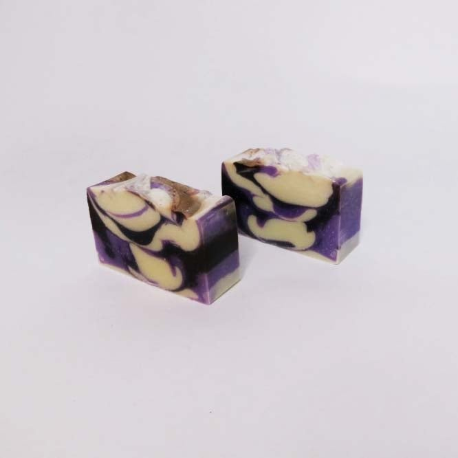 Image of LAVENDER & WHITE AMBER SOAP