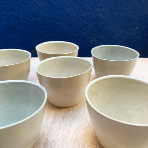 Image of 6 tasses à café en grès (dégradé)
