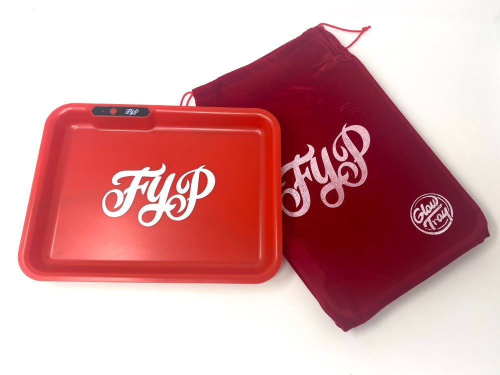 Image of Red FYP Glow Tray Rolling Tray