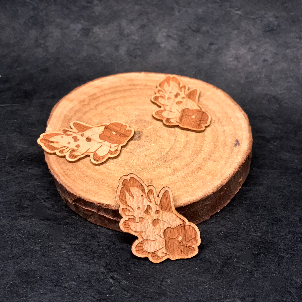 Coelecanth Mini Wooden Sticker