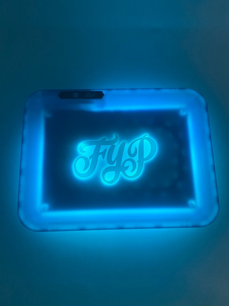 Image of Blue FYP Glow Tray Rolling Tray