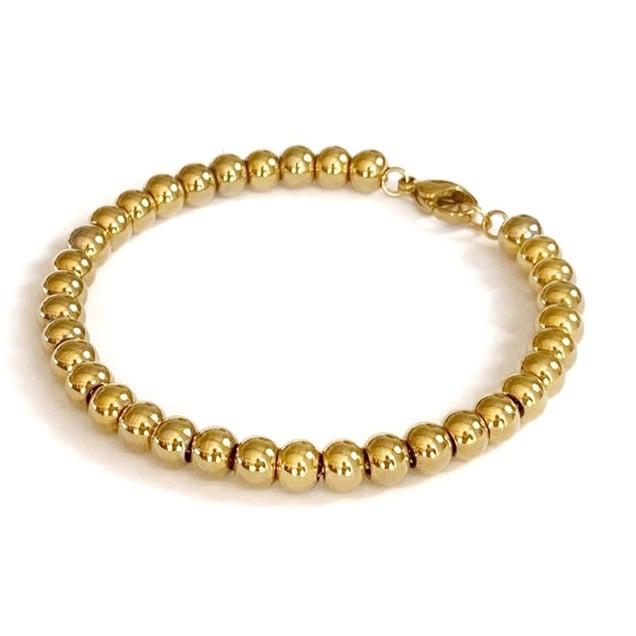 Image of Kugelarmband 6 mm gold