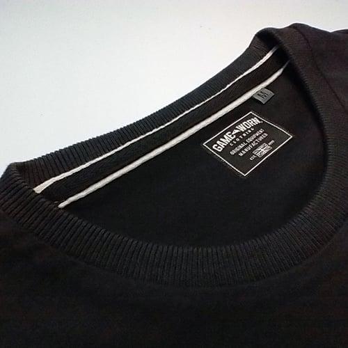 Image of GAME-WORN T-Shirt G-W Print Charcoal Black/Teal