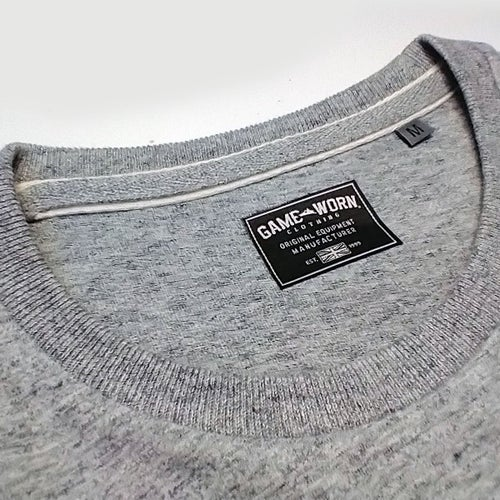 Image of GAME-WORN T-Shirt G-W Print Heritage Grey/Burgundy