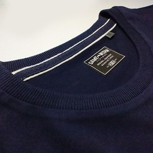 Image of GAME-WORN T-Shirt G-W Print Vintage Navy/Gold