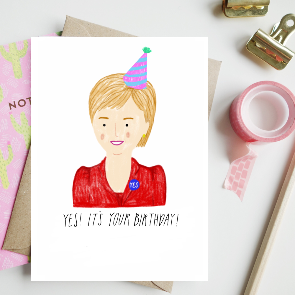 Image of Nicola Sturgeon Birthday Card