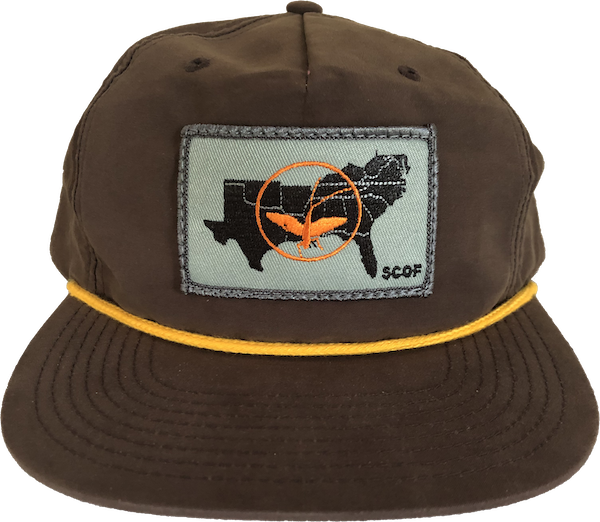 Image of SCOF STATES PATCH/ROPE HAT (BROWN)