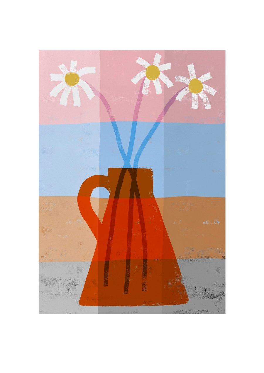 Image of Marguerit - Giclée kunstprint