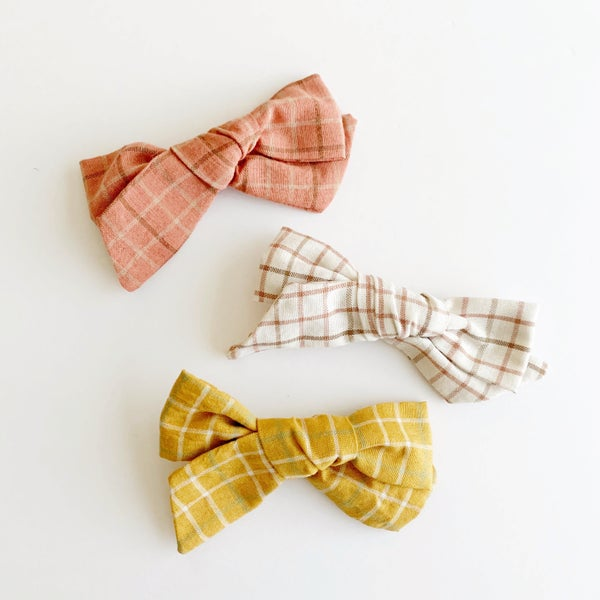 Image of Autumn Plaid Hair Bows