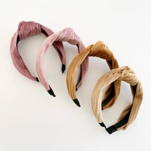 Image of Autumn Ribbed Velvet Turban Headbands