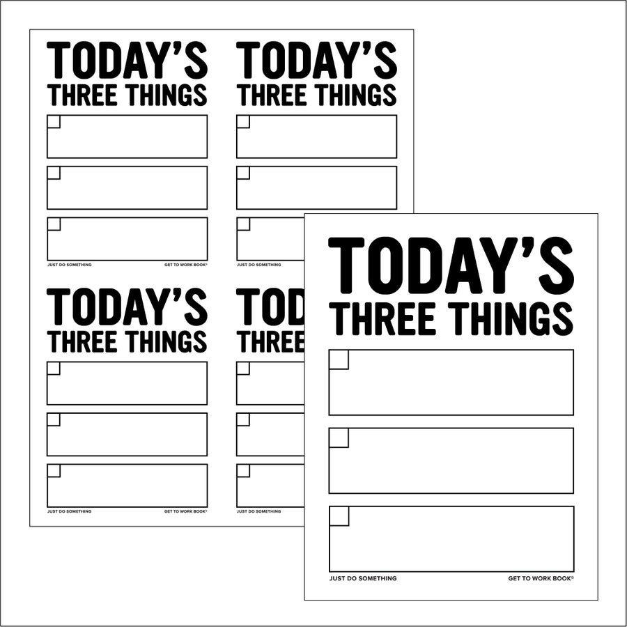 Image of PRINTABLE THREE THINGS PAGE