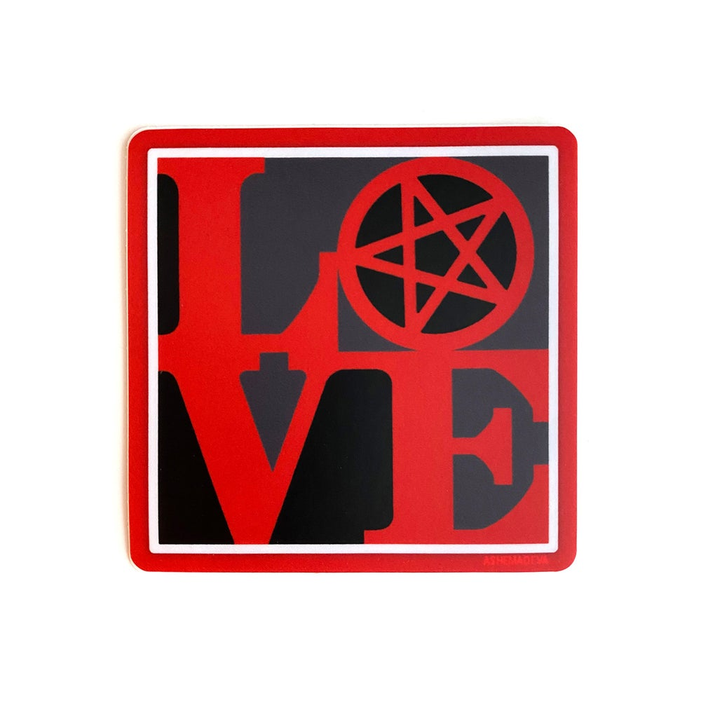 AshemaDeva LOVE Pentagram Sticker