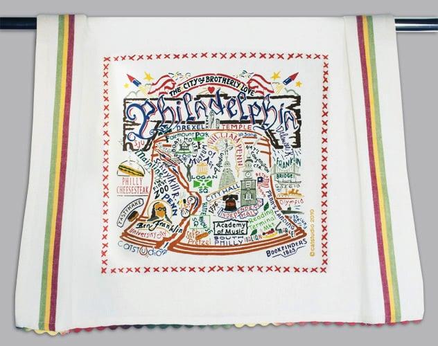 Philadelphia tea towel