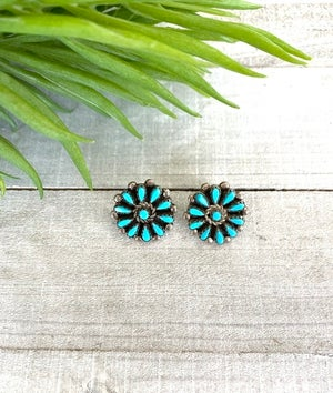 Zuni Turquoise Traditional Earrings