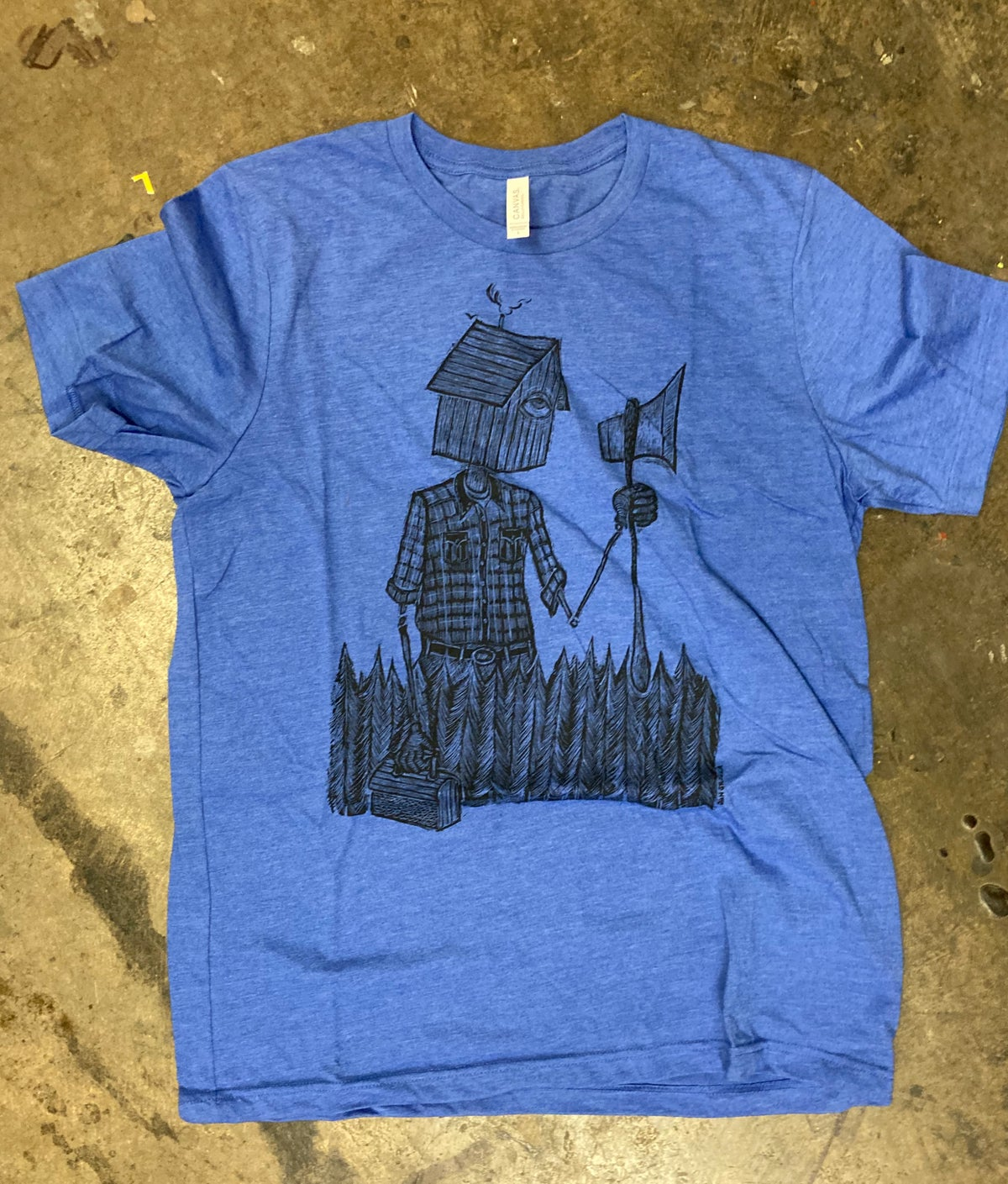 Reluctant Woodsman Tee Heather Blue