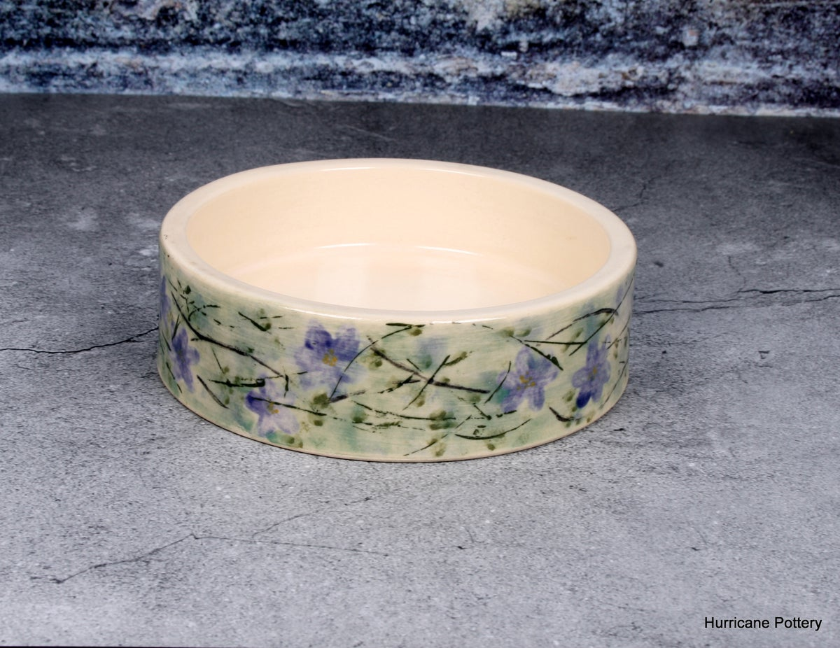 Image of Hand Painted Violets and Vines Wine Coaster