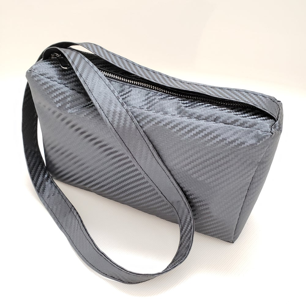 Image of Long Strap Carbon Fiber Bag Purse
