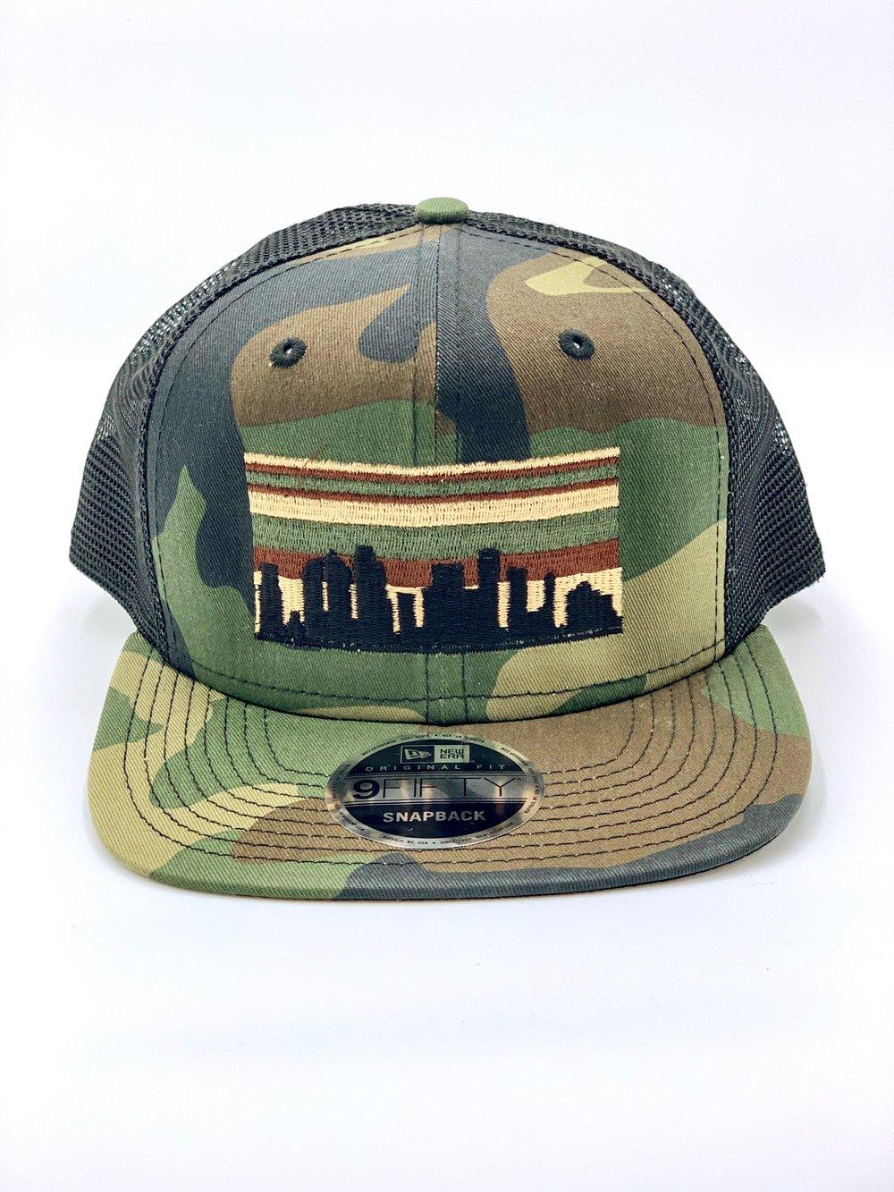 Houston Skyline Camo Hat