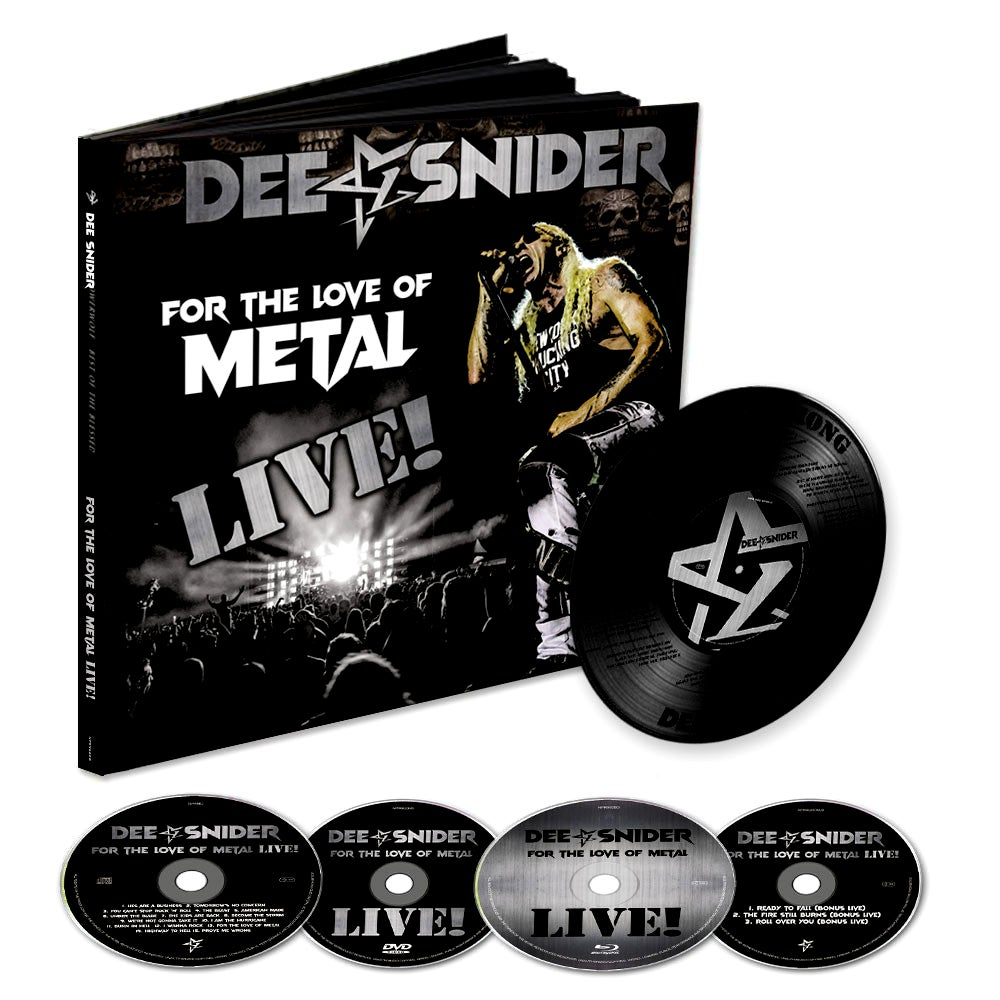 Image of LIMITED EDITION EARBOOK - Dee Snider 'For the Love of Metal - Live!