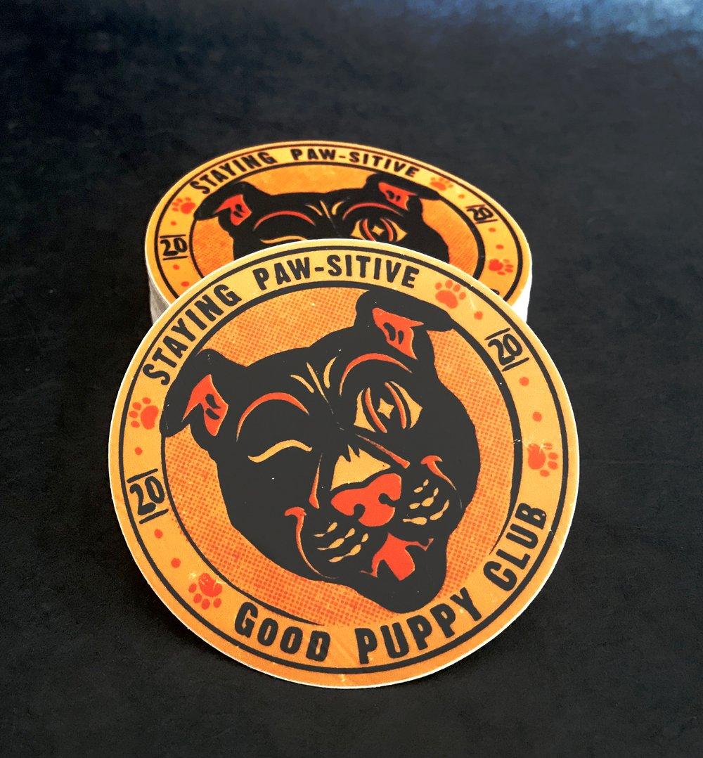Good Puppy Club Sticker
