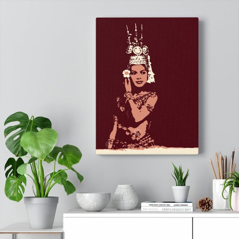"Image of Cambodia Apsara Canvas Gallery Wraps 12""x16"""