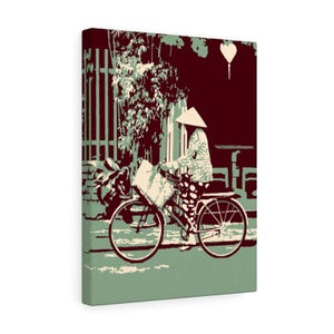 "Image of Vietnam Hoi An Old Town Canvas Gallery Wraps 12""x16"" - Lantern Bicycle Jade color"